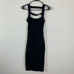 NWT ASOS Petite Black bodycon Dress Strappy back